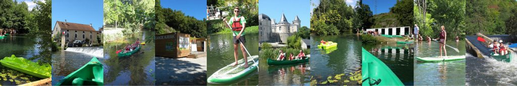 rentals hikes Canoe kayak stand up paddle Pedalo Ruffec Charente